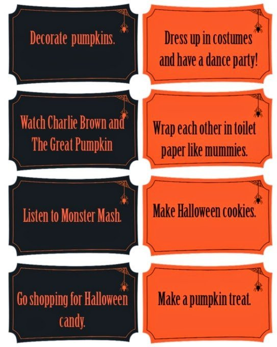 All sorts of fun Halloween activities for kids including a great Halloween countdown calendar idea