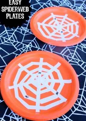 How to Make Spiderweb Plates for Halloween