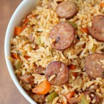 Easy cajun sausage jambalaya recipe from playpartyplan.com