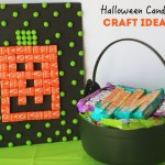 Sweet Halloween candy craft idea made with Skittles and Starbursts