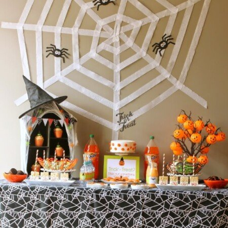 Halloween party ideas on a table