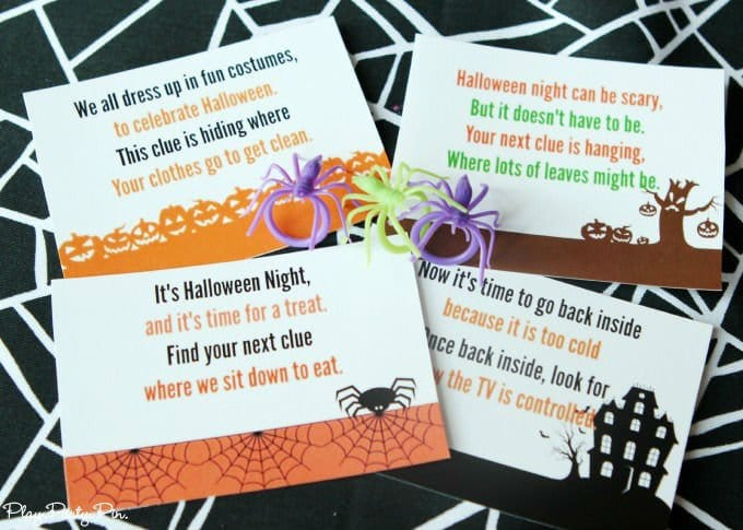 Free printable Halloween scavenger hunt perfect for Halloween parties