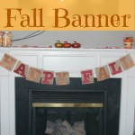 Easy Fall Burlap Banner Tutorial