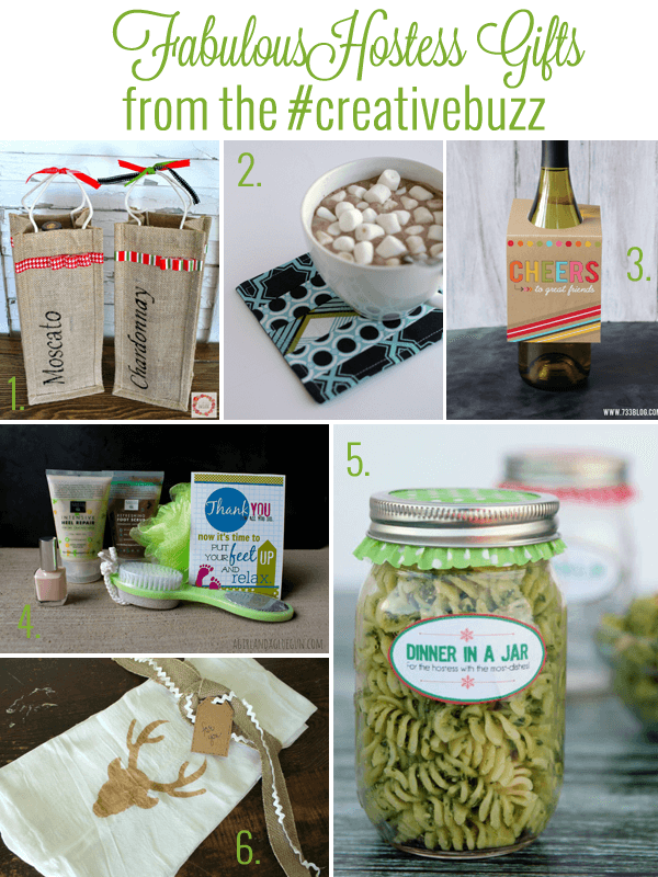 Great collection of hostess gift ideas, love the dinner in a jar idea