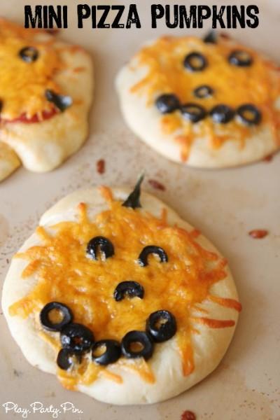 Mini Pizza Pumpkin Decorating Ideas