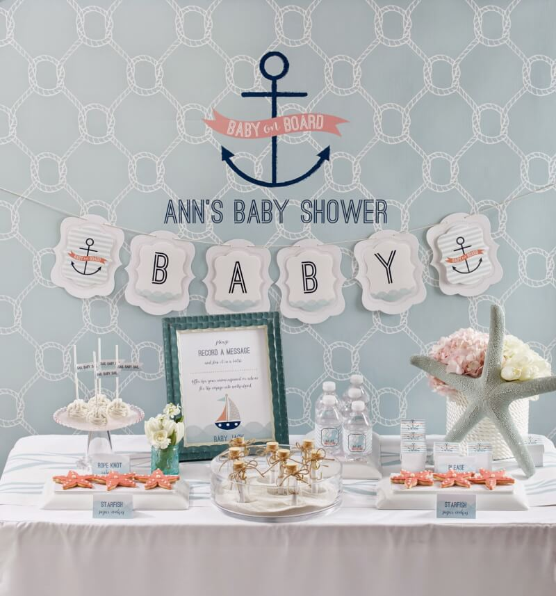 baby on board nautical baby shower