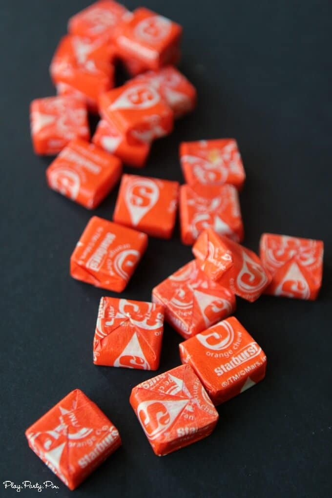 Orange starbursts