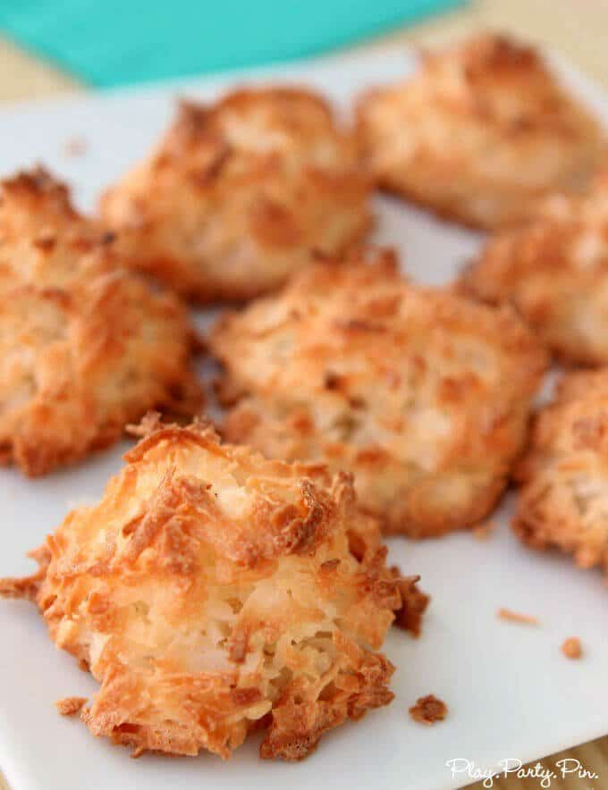 Perfect coconut macaroons made using Brookstone Perfect Bake App
