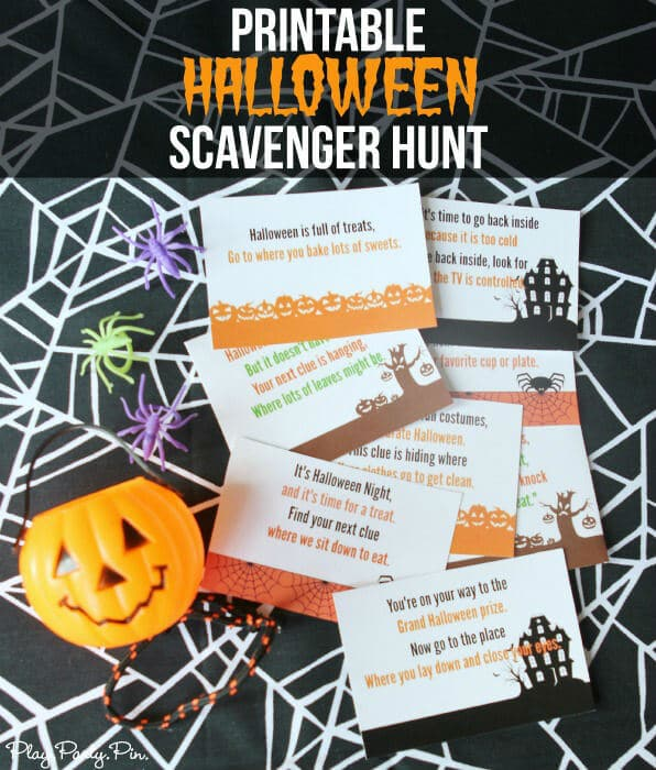 Free printable Halloween scavenger hunt for kids