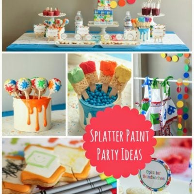 Art and Splatter Paint Party Ideas