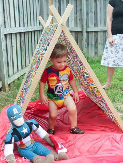 Captain America play tent