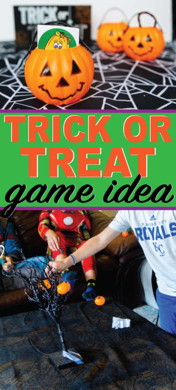 Play this trick or treat Halloween game with kids of all ages! Perfect for a classroom party or Halloween night!