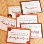 Teach toddlers thankfulness with this fun 12 days of Thanksgiving idea, complete with Thanksgiving activities and printable cards