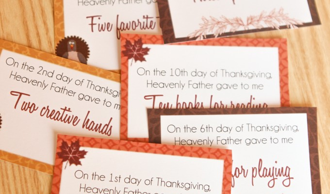 Teaching Toddlers Thankfulness with 12 Days of Thanksgiving