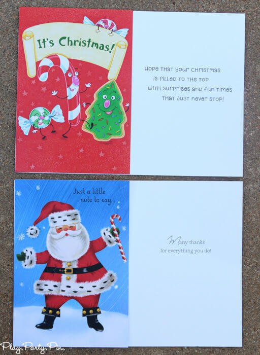 Such a simple and fun Christmas party game, Christmas card matching