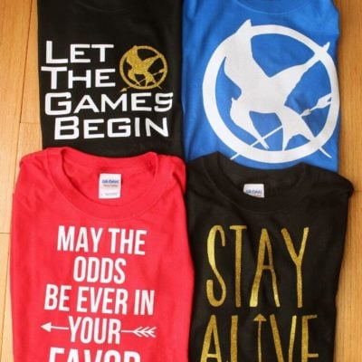 DIY Hunger Games Shirts & Free Cut Files
