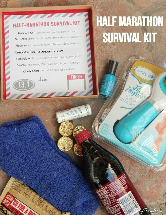 Love this half marathon survival kit with the best at home pedicure kit