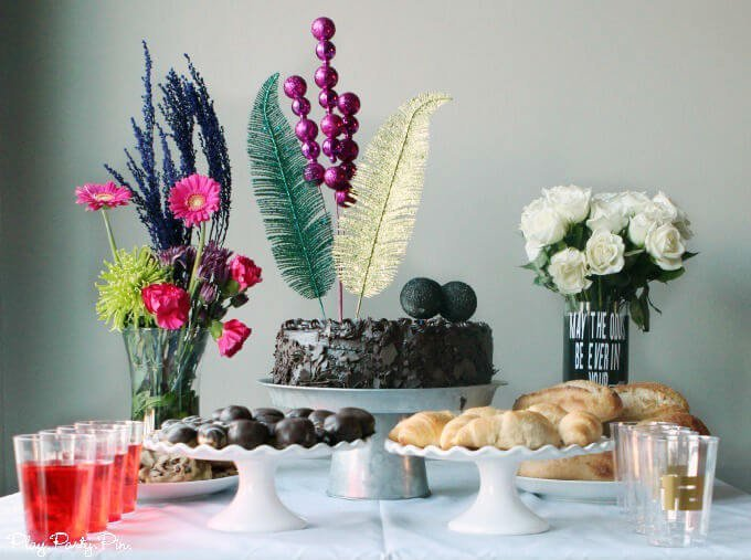 Hunger Games party ideas including an extravagant Capitol inspired cake idea