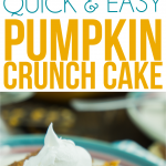 This pumpkin crunch cake recipe is easy to make and delicious