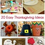 20 Easy Thanksgiving Craft Ideas perfect for last-minute Thanksgiving decorating