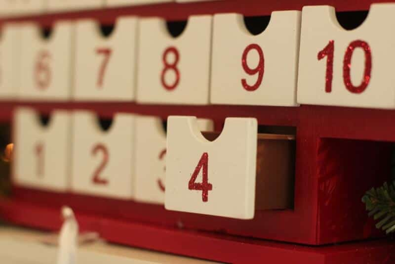 Drawer advent calendar