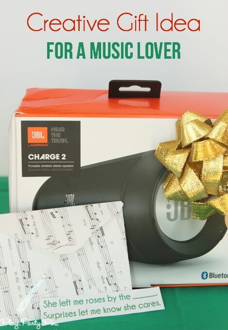 This gift idea for a music lover is so creative and fun. And I love the sheet music envelopes to hold the musical scavenger hunt clues!