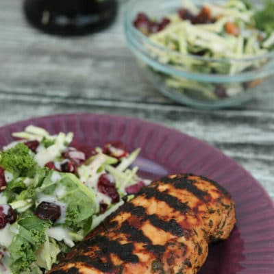 Balsamic Chicken Recipe and Sweet Kale Salad