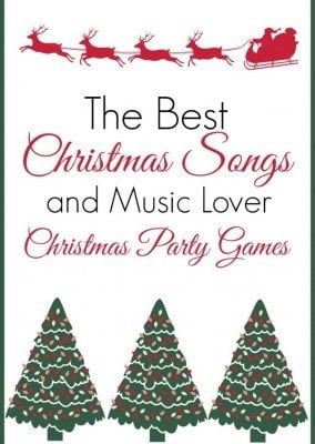 Love this list of the best Christmas songs and the fun Christmas party games you can play with the songs