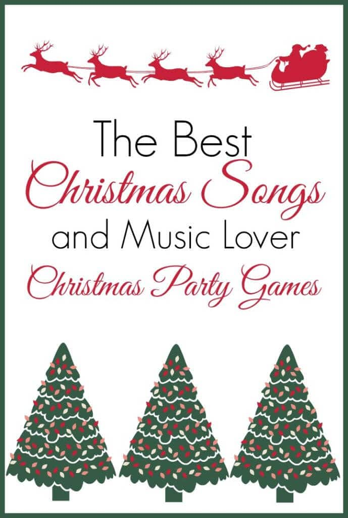 love this list of the best christmas songs and the fun christmas party games you can