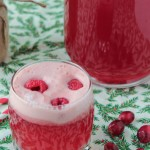 Cranberry raspberry holiday punch recipe, a great drink for holiday parties!
