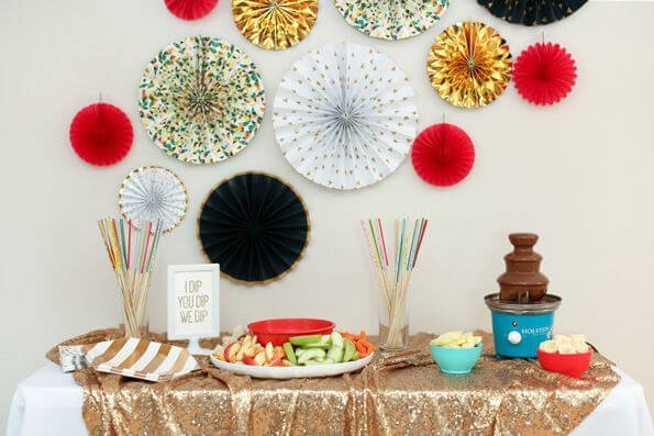 Tips for setting up a kid-friendly chocolate fondue bar