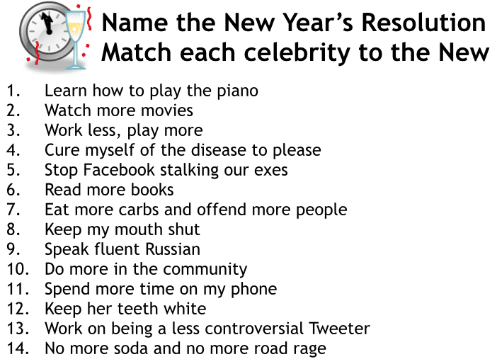 2014 New Year's Eve Games & Party Ideas