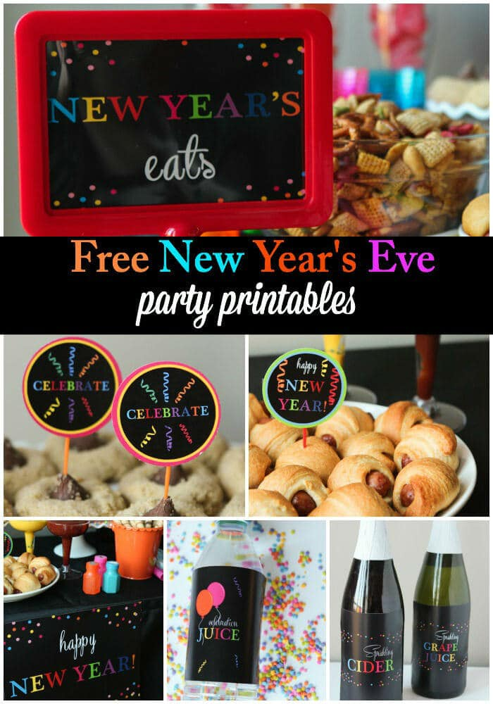 Free New Year's Eve party printables and other great New Year's Eve party ideas