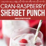 A collage of holiday punch and sherbet punch images