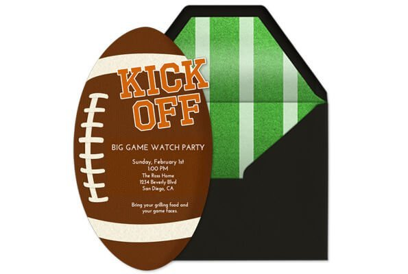 DIY football party decorations from Evite