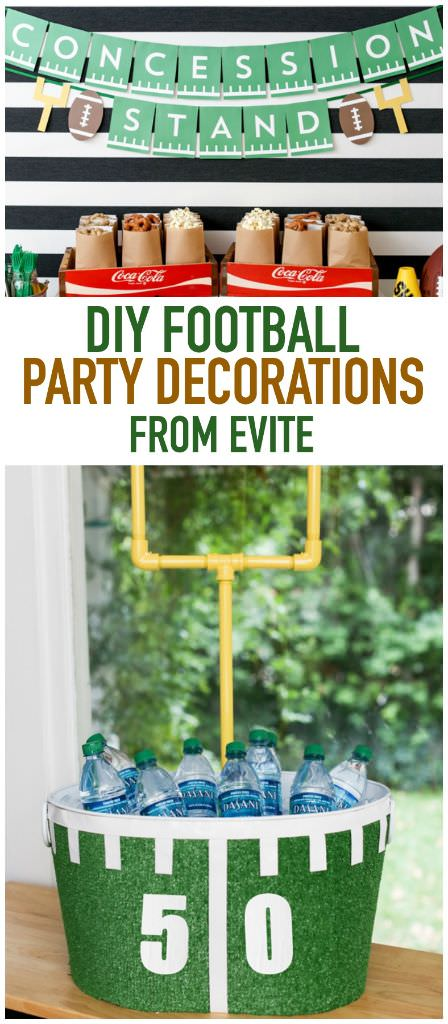 game day party decor ideas from evite