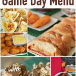 The perfect game day menu full of quick and easy recipes that are delicious and perfect for a game day party!