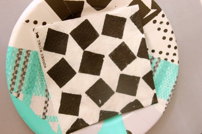 Crate & Barrel Paola Navona paperware collection inspired geometric party