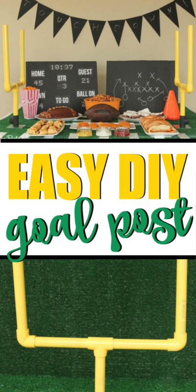 Make these easy DIY PVC pipe field goals in minutes to add some fun to your next football party table!