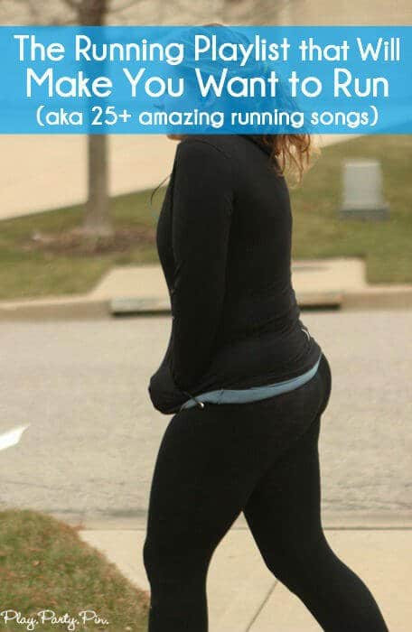 It's time to lace up your running shoes and break out the music. This is the best running playlist ever with 25+ of the best songs to run to with everything from Eminem to One Direction. Make running the part of your fitness and exercise routine that you actually enjoy with this great playlist. #22 is still my absolute favorite song!