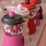 Valentine's Day bubble gum machines are such cute Valentine's Day crafts and perfect for this fun craft your heart out Valentine's Day party from www.playpartyplan.com.
