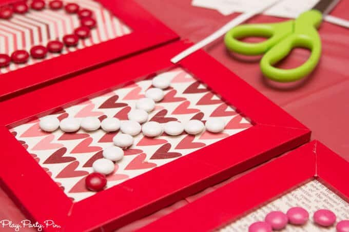 This Valentine's Day word art is such a cute Valentine's day craft idea, and I love the Craft Your Heart Out Valentine's Day party ideas from www.playpartypin.com