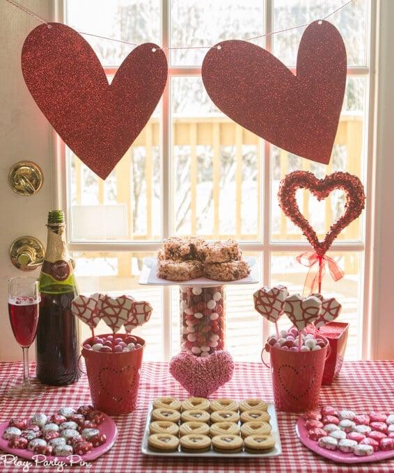 Valentine's Day party ideas using Valentine's Day M&M's