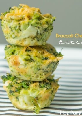 These broccoli cheese bites are great quick and easy appetizers, a great healthy option for a brunch or party!