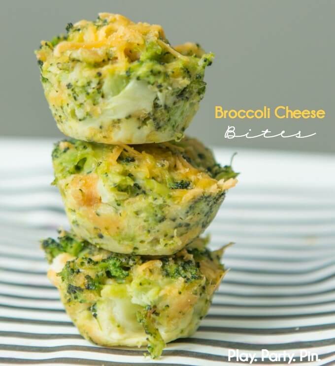 Broccoli bites are a great appetizer for a dinner party
