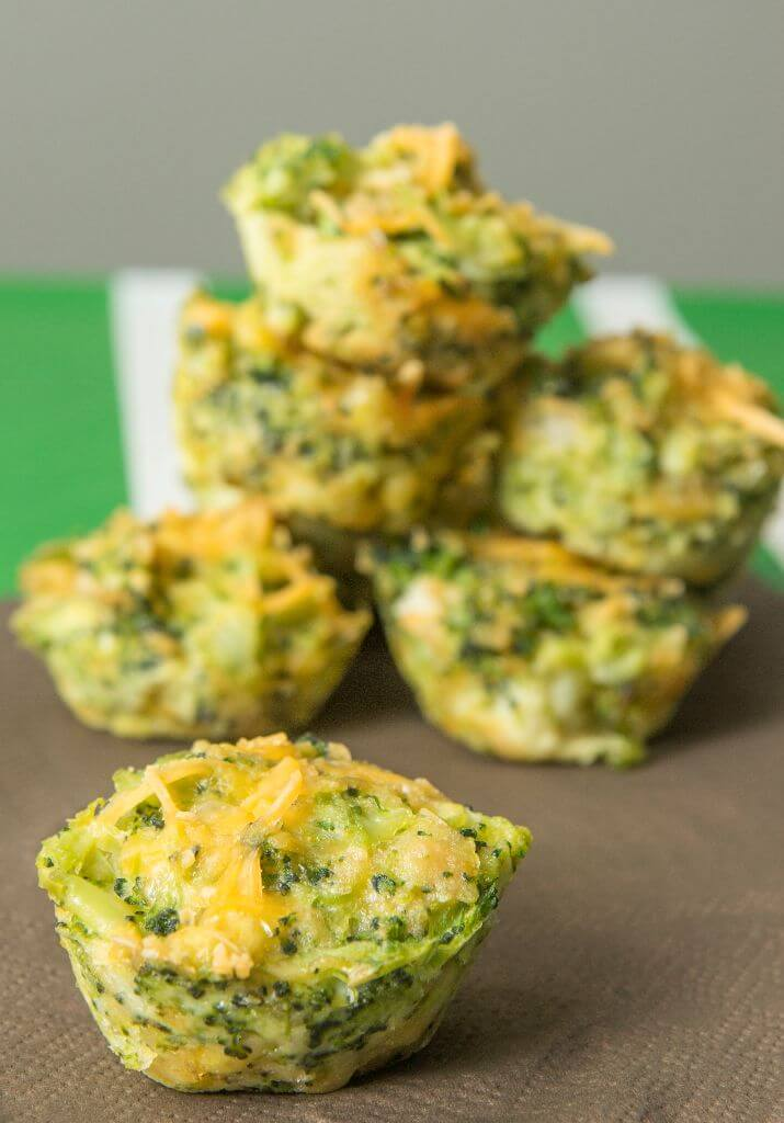 Simply delicious broccoli bites with a cheesy crunchy topping these broccoli cheddar bites are cooked in a muffin tin forumfinder Image collections