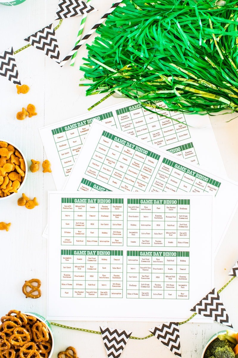 Printable football bingo cards