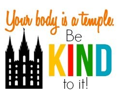 Love this free printable your body is a temple handout idea from playpartyplan.com