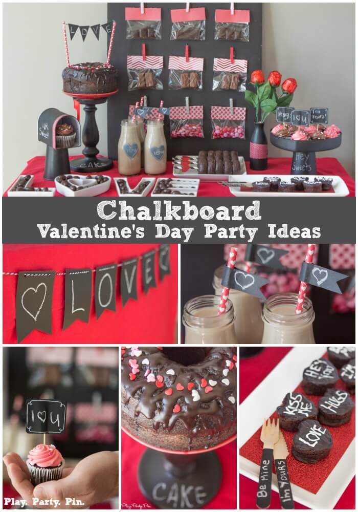 Chalkboard Valentine S Day Party Ideas