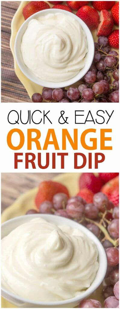 This quick and easy orange fruit dip is made with just four ingredients and absolutely delicious!